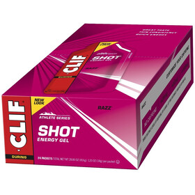 CLIF Bar Shot Gel Box 24x34g Razz/Raspberry